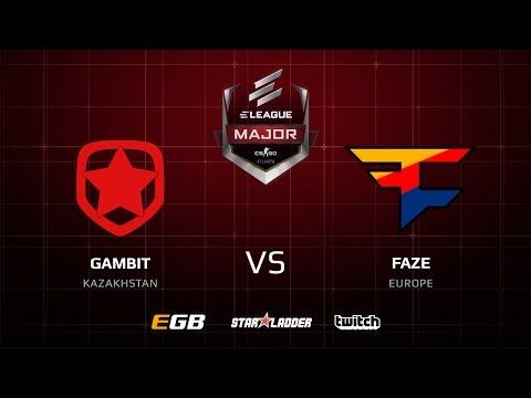 Gambit vs FaZe, overpass, ELEAGUE Major 2017