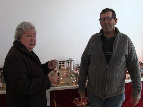 Belén de Croché realizado y montado por Sergio y Asunción en Servicios Sociales de Isla Cristina