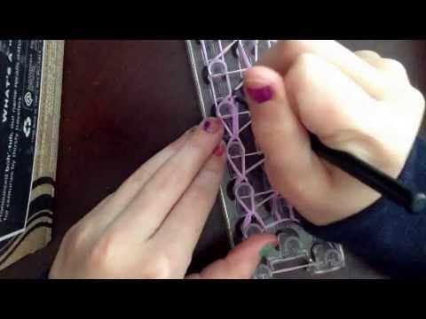 Triple single rubber band bracelet tutorial on loom