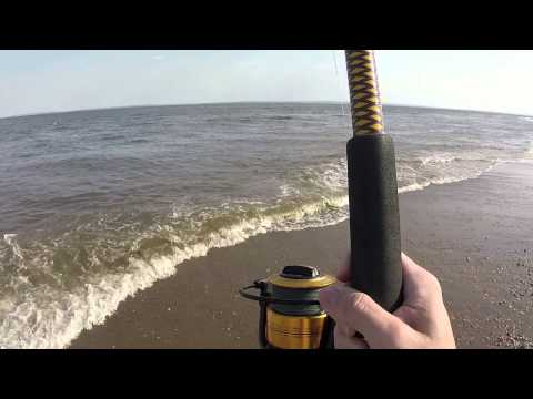 Surf fishing for Blues – Great Kills Beach