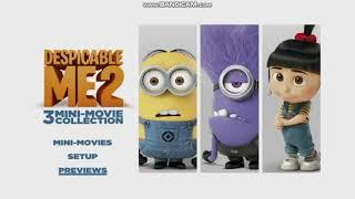 Despicable Me 2: 3 Mini-Movie Collection DVD Menu Walkthrough
