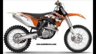 10. Evolution of KTM sx-f 350 from 2011 to 2014.