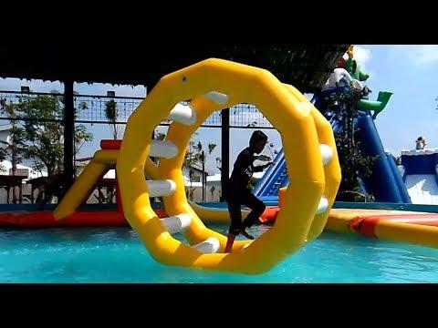 LIBURAN SERU! Bermain Air, Asiknya Main Air, Water Slide WaterPark Gofun - KOLAM RENANG ATRAKSI