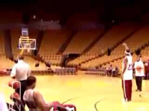 LeBron James hits full court shots Powerade Commercial