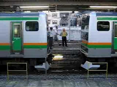 東海道線/E231系 連結作業
