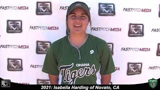 2021 Isabella Harding First Base and Third Base Softball Skills Video
