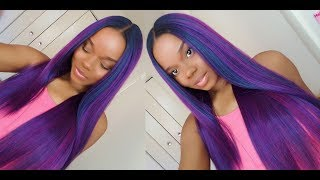 WATCH IN 1080P HD! Instagram: http://instagram.com/mamawithstyle WIG I N F O: Color: OS1B/VIOLET  Curling Iron Safe up to ...