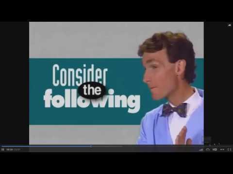Bill Nye on Gender circa 1990s