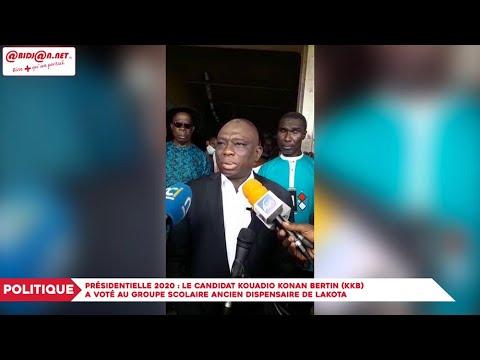 COTE  D IVOIRE : Présidentielle 2020 : Le candidat Kouadio Konan Bertin KKB a voté au Groupe Scolaire