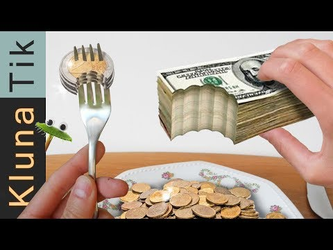 EATING MONEY!! | KLUNATIK ASMR Eating Sounds No Talk Comiendo Dinero, 吃錢, есть деньги