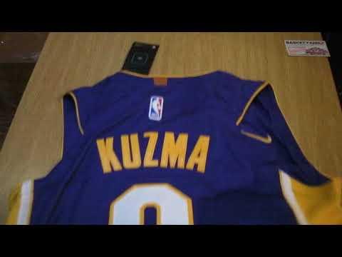Баскетбольная джерси Nike NBA Los Angeles Lakers  Kyle Kuzma магазин Basket Family