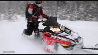 7. 2013 Polaris 600 Pro-RMK 155 Snowmobile Review