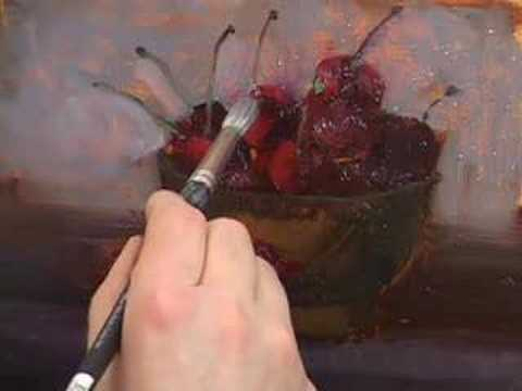 painting cherries - Volume #7 DVD--PAINTING CHERRIES-INSTRUCTIONAL DVD CLIP HALL GROAT II.