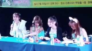Download Lagu 140730 Girl's Day Sinchon Fansign Fancam 15 Sojin Hyeri Yura MInah pen fight Mp3