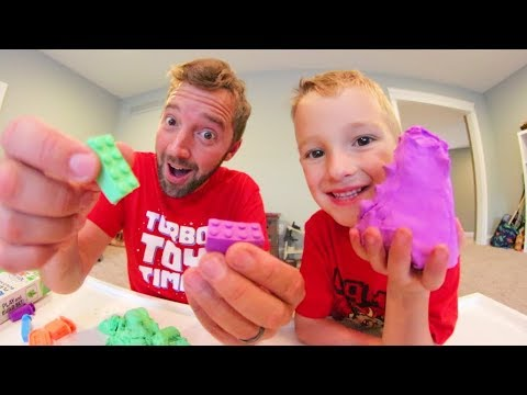 Play doh - FATHER SON PLAY-DOH LEGO'S!? / Mad Mattr!