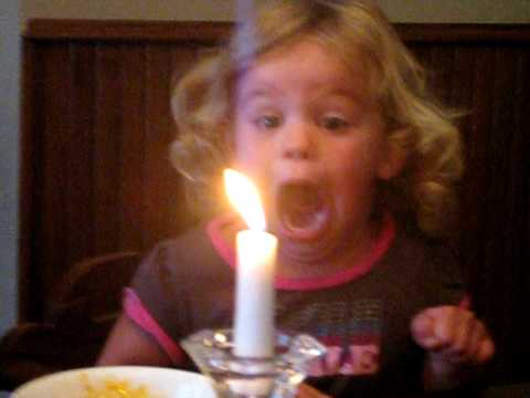 Kaylee Blowing out the Candle