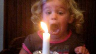 Hilarious Funny Little Girl Blowing Out Candle :)
