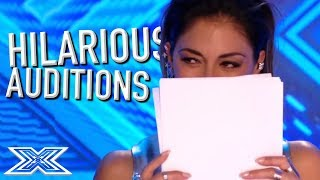 Video JUDGES Can't Stop LAUGHING! | X Factor Global MP3, 3GP, MP4, WEBM, AVI, FLV Juni 2018