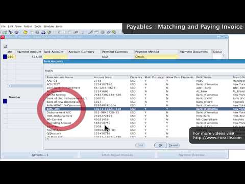 Oracle Training - Accounts Payable in Oracle E-Business Suite R12 (1080p - HD)