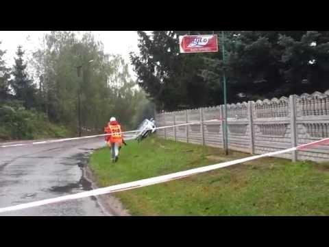 Wypadek Janczaka Rajd Nadwiślański Dys 27.09.2014