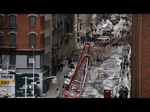 ΗΠΑ: Τραγωδία από κατάρρευση γερανού στο Μανχάταν