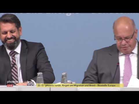 Pressekonferenz nach dem Gipfel zum Netzausbau am 20. ...