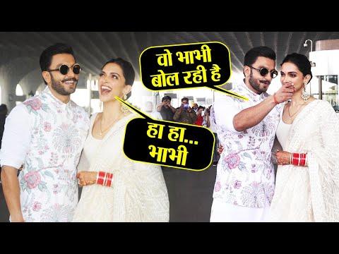 Video Deepika Padukone blushes as media calls her Bhabhi in front of Ranveer Singh; Watch Video  FilmiBeat download in MP3, 3GP, MP4, WEBM, AVI, FLV January 2017