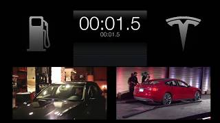 Tesla Model S - 90-second Battery Swap