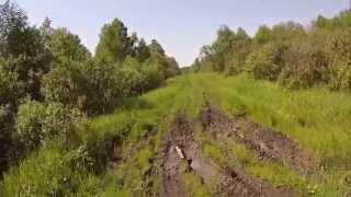 9. Дорога Окунево-Танатово на Yamaha XT 250 Serow