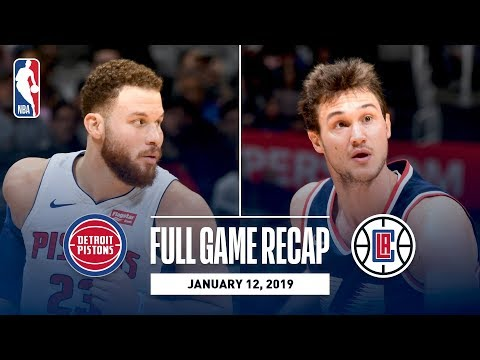 Video: Full Game Recap: Pistons vs Clippers | Blake Griffin Drops 44 In His Return To LA