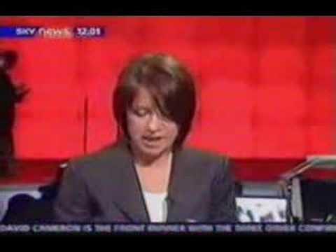 Sky News - Harold Pinter blooper