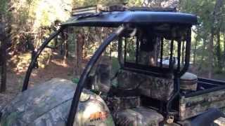 4. Kawasaki Mule 610 xc camo Goal Zero  Custom rack Led light bar