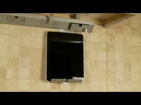 ipad kitchen stand an under cabinet tablet mount from. Black Bedroom Furniture Sets. Home Design Ideas