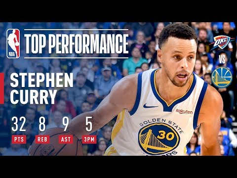 Video: Stephen Curry Leads All Scorers With 32 Points In Victory Over OKC | 2018-2019 NBA Opening Night