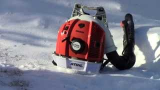 7. Blowing Snow With The Stihl Br600 Magnum Backpack Blower