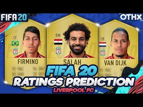 FIFA 20 | Liverpool FC Player Ratings Predictions W/ Salah, Van Dijk, Firmino  @Onnethox