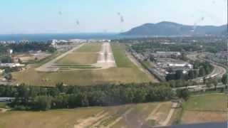 Landung In Cannes LFMD Mit Der Cirrus SR20 D-EZDG Der Deutsche Luftfahrt AG Im Mai 2012