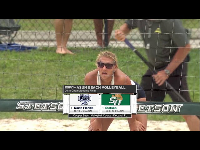 2018 ASUN Beach Volleyball Championship Match - UNF Stetson Open