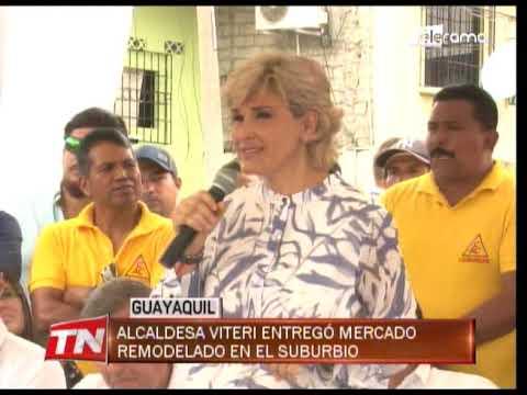 Alcaldesa Viteri entregó mercado remodelado en el suburbio