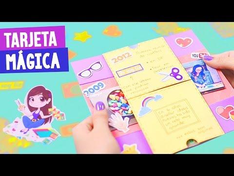 Tarjetas de cumpleaños para una amiga - TARJETA MÁGICA DE CUMPLEAÑOS + MI HISTORIA DE YOUTUBE - Semana Crafty  Craftingeek