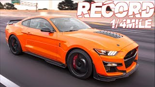 2020 Shelby GT500 Breaks 1/4 Mile Record! Best Ford Mustang Ever? (Only 2 Engine Mods!) by  That Racing Channel