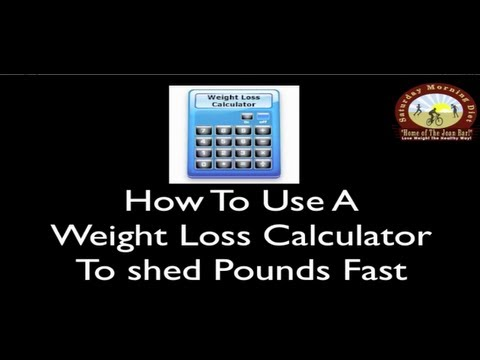 How To Use A Weight Loss Calculator To Shed Pounds Fast Saturday Morning Diet
