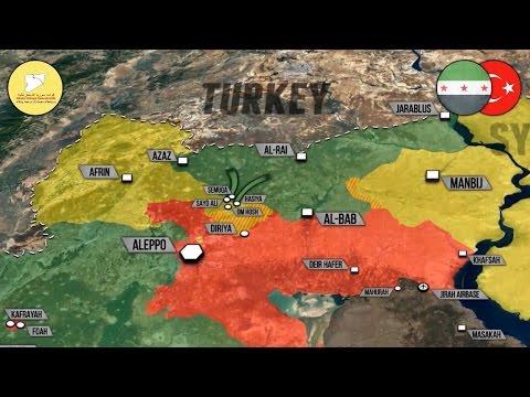 18 апреля 2017. Военная обстановка в Сирии. Бои между турками и курдами в Алеппо. Русский перевод. (видео)