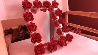 DIY Decor: Recycled Egg Carton into Roses/Flowers - YouTube