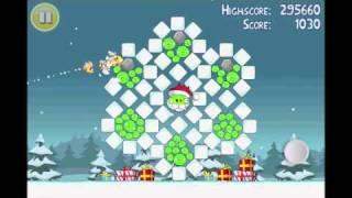 Angry Birds Seasons Greedings Golden Egg 1 Walkthrough
