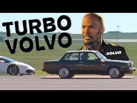 turbo volvo spanks lambo, vette & honda
