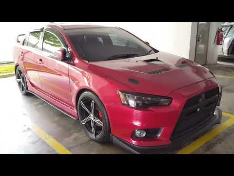 Custom Modified Mitsubishi Lancer X Sedan Full Body Kit 18 inch Wheels