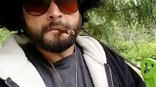 Smoking a blunt in the woods by Master Bong