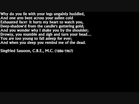 Siegfried Sassoon - 'The Dug-Out' (1919)