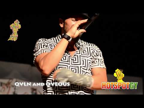QVLN and OVEOUS performing in Guyana